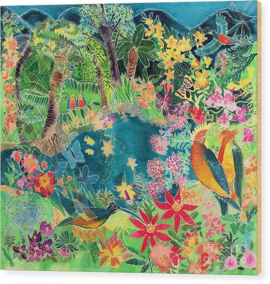 Caribbean Jungle Wood Print