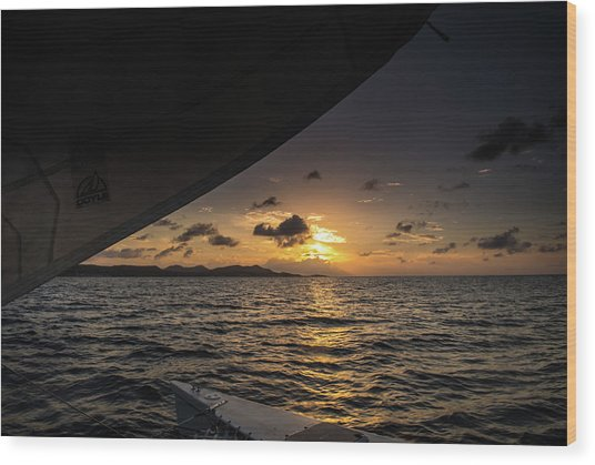 Caribbean Sail St Croix Wood Print