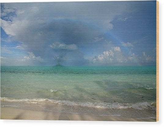 Caribbean Waterspout  Wood Print