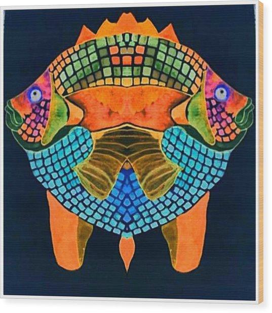 Caribean Fish Wood Print