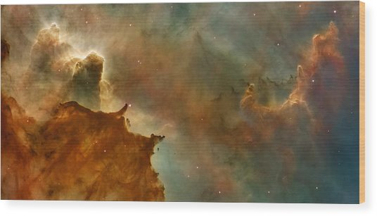 Carina Nebula Details -  Great Clouds Wood Print