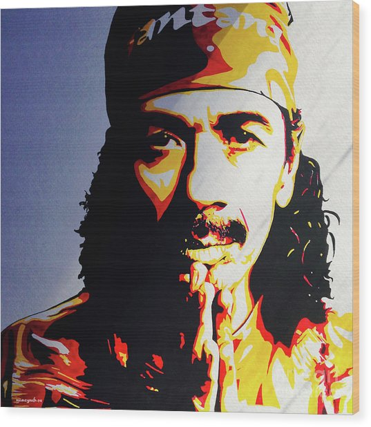 Carlos Santana. Wood Print