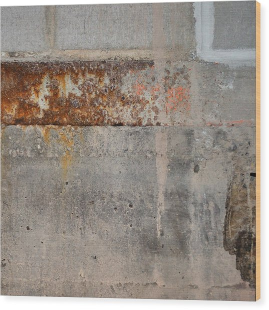 Carlton 16 Concrete Mortar And Rust Wood Print