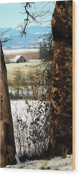 Carlton Barn Wood Print