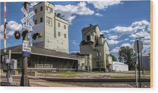 Carlton Michigan Feed Mill Wood Print