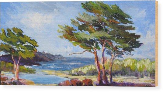 Carmel By The Sea Wood Print by Barbara Moore