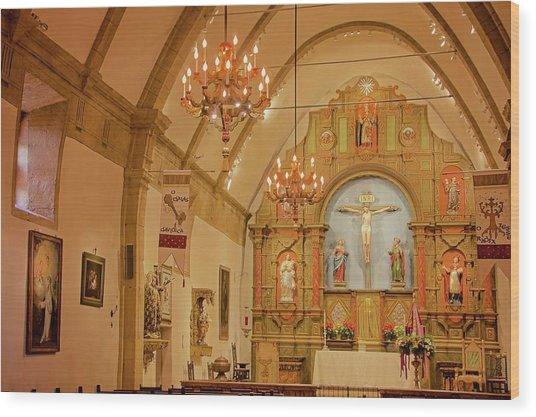 Carmel Mission, Mission San Carlos Borromeo Wood Print