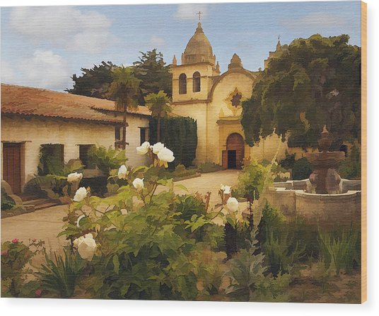 Carmel Mission Wood Print