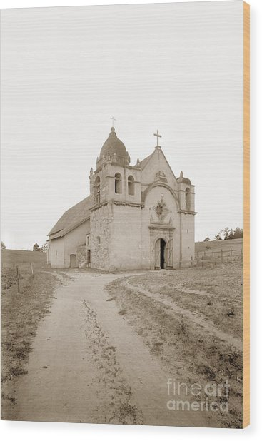 Carmel Mission South Side Circa 1915 Wood Print