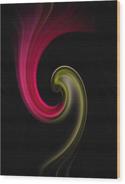 Carnation Twirl Wood Print