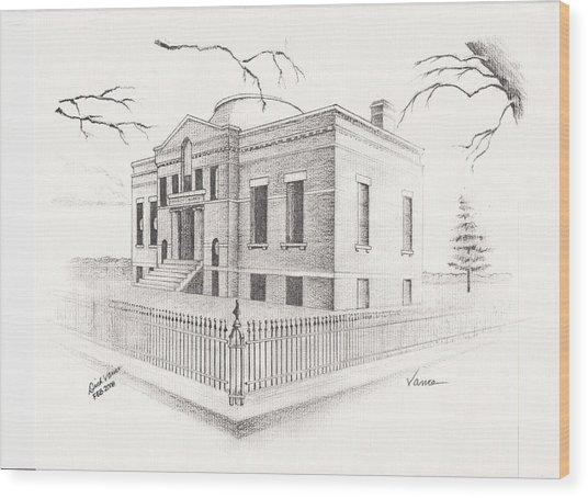 Carnegie Library Mitchell South Dakota Wood Print by Buffalo Dick Vance