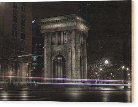 Carnegie Monument Wood Print