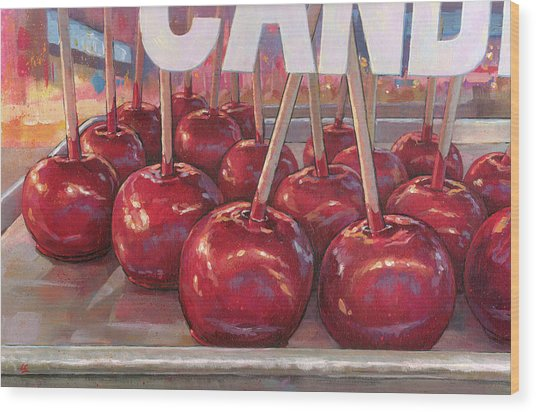 Carnival Apples Wood Print