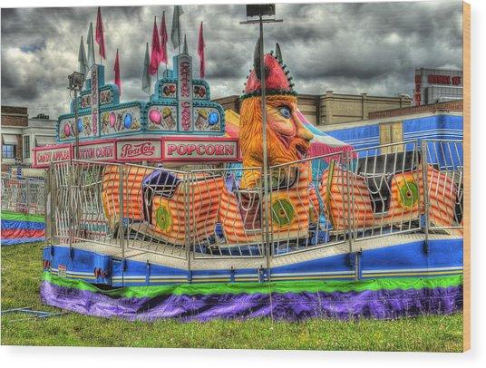 Carnival At Crocker Park Wood Print by Neil Doren