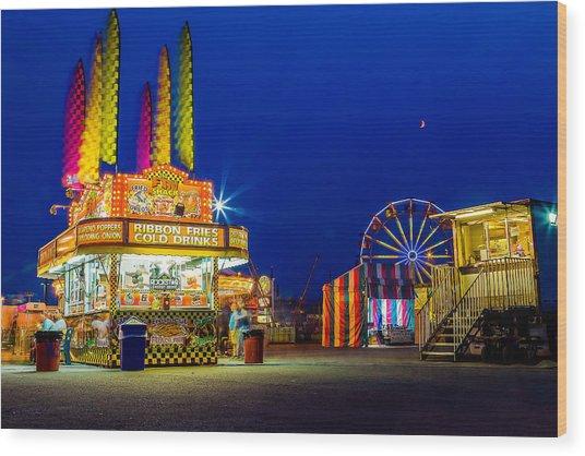 Carnival Glo Wood Print by Bryan Moore