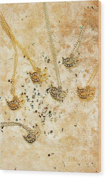 Carnival Masquerade Jewels Wood Print