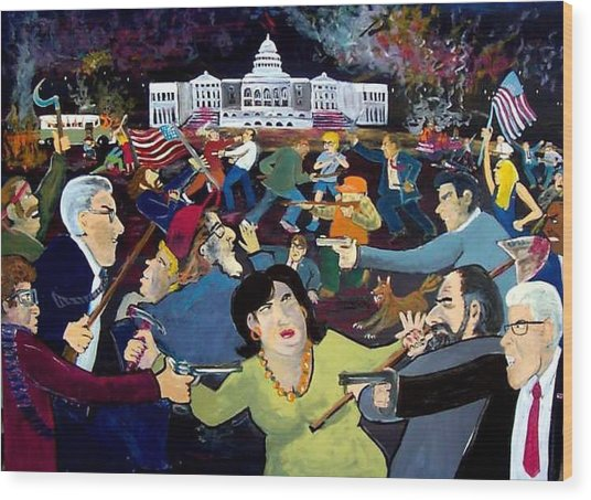Carnival Of Democracy Wood Print by Richard  Hubal