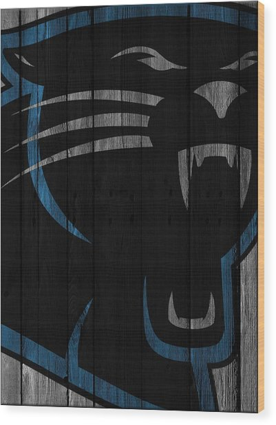 Caroilina Panthers Wood Fence Wood Print
