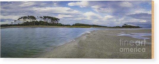 Carolina Inlet At Low Tide Wood Print
