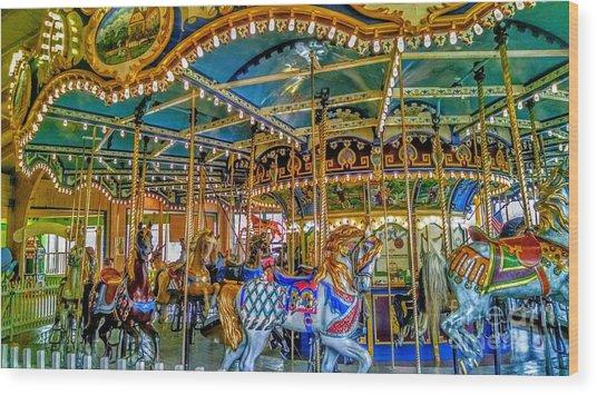 Carousel At Peddlers Village Wood Print