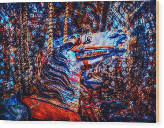 Wood Print featuring the photograph Carousel Dream by Michael Arend