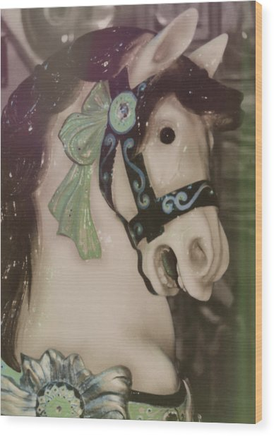 Carousel Horse Wood Print by JAMART Photography
