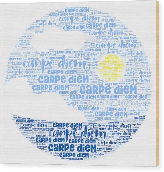 Carpe Aestatem Wood Print