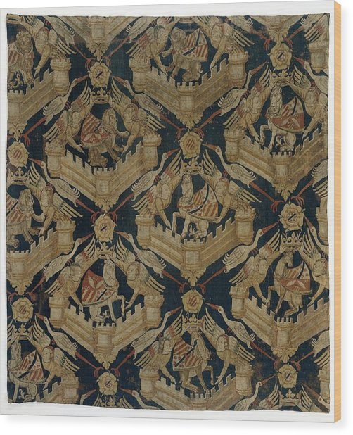 Textile Tapestry Carpet With The Arms Of Rogier De Beaufort Wood Print