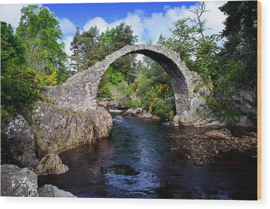 Carr Bridge Scotland Wood Print