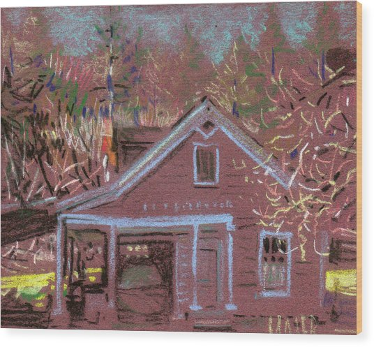 Carriage House Wood Print by Donald Maier
