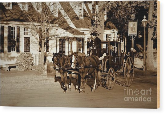 Wood Print featuring the photograph Carriage Ride by Patti Whitten