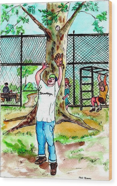 Carroll Park Was A Favorite Playground For The Neighborhood Kids Wood Print