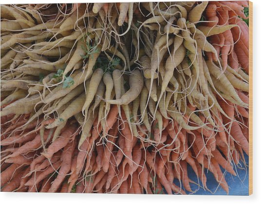Carrots And Turnips Wood Print