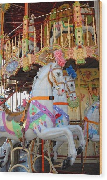 Carrousel 48 Wood Print by Joyce StJames