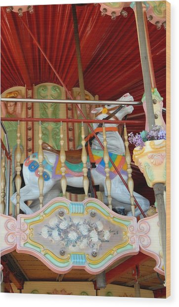Carrousel 50 Wood Print by Joyce StJames