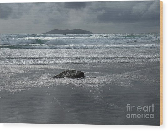 Carrowniskey Beach Wood Print