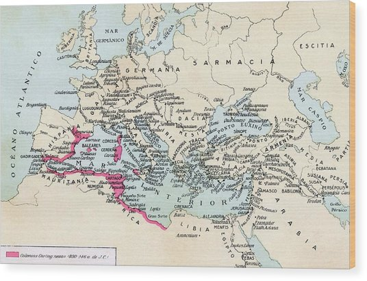 Carthaginian Colonies And Area Of Wood Print