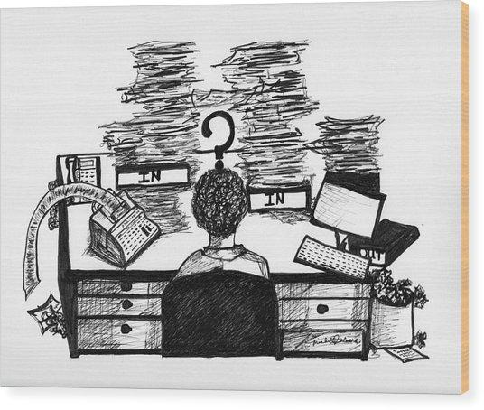 Cartoon I Dare You Wood Print