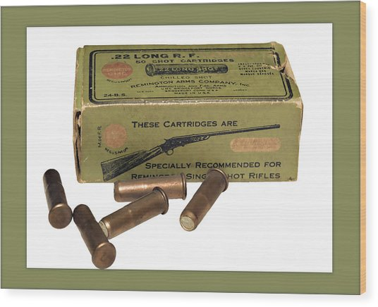 Cartridges For Rifle Wood Print