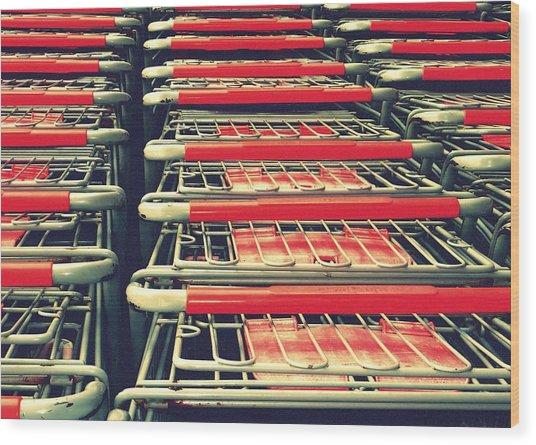 Carts Wood Print
