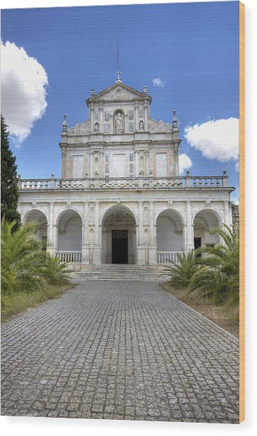 Cartuxa Convent Wood Print by Andre Goncalves