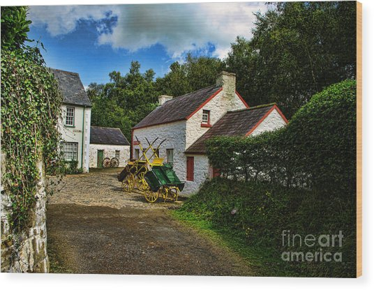 Cartwheel Cottages Wood Print by Kim Shatwell-Irishphotographer