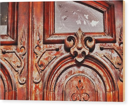 Carved Entry Wood Print by JAMART Photography