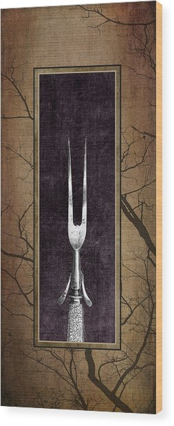 Carving Set Fork Triptych 1 Wood Print