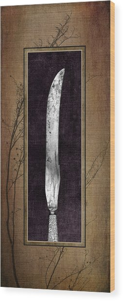 Carving Set Knife Triptych 2 Wood Print
