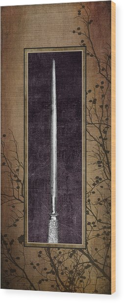 Carving Set Sharpener Triptych 3 Wood Print