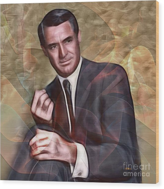 Cary Grant - Square Version Wood Print