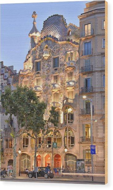 Casa Batllo Barcelona  Wood Print