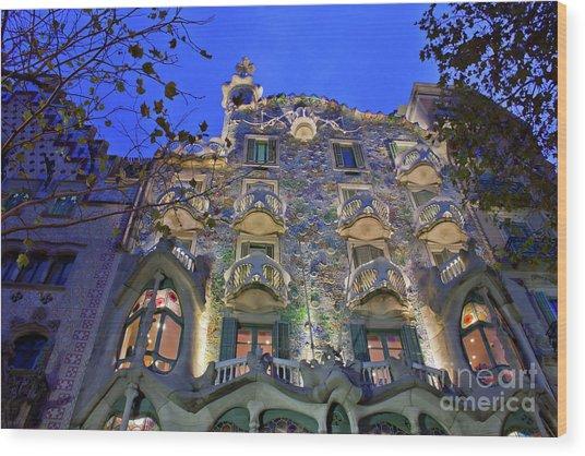 Casa Batllo In Barcelona Wood Print