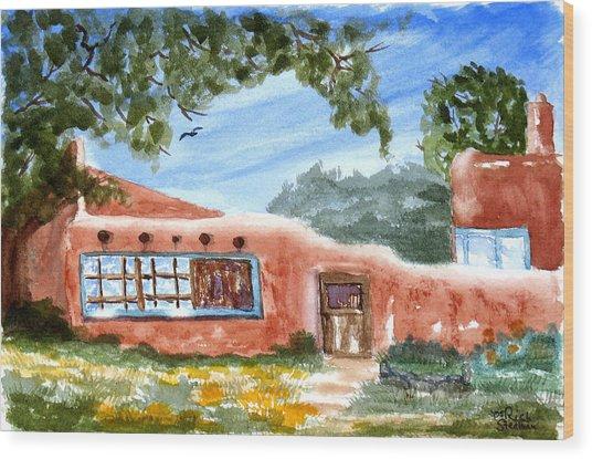 Casa En Taos Wood Print